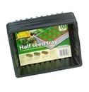 Seed Tray - Half Seed Trays 10 Pack - Black - Gardman