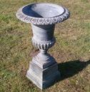 Copper Cast Iron Garden Urn & Base - 87cm