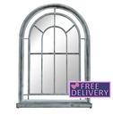 Premium Arched Grey Vintage Outdoor Garden Mirror - Charles Bentley