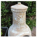 Natural Medium Clay Chimenea - Charles Bentley