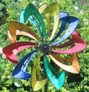 Malvern Starlight Garden Wind Sculpture Spinner - Built in dynamo LED Lights