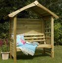 Cadiz Wooden Garden Arbour Seat by Forest Garden