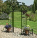 Huntingdon Steel Garden Arch with Planters