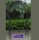 Metal Garden Arch - Wrought Iron -  Antique Black - Charles Bentley