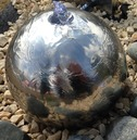 Stainless Steel Sphere Water Feature - Different Size Options