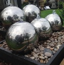 Stainless Steel Sphere Ball Solar Power Water Feature - Different Size Options