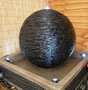 Grand Earth Stone Granite Effect Sphere Water Feature - 75cm
