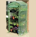 Compact 4 Tier Growhouse Greenhouse with Reinforced PE Cover