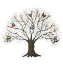 Tree with Butterflies Metal Wall Art - Large - Fountasia