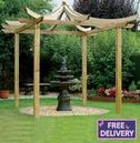 Dragon Japanese Garden Pergola - Grange