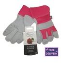 Ladies Rigger Gardening Gloves - Medium - Pink - Briers