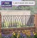 Abbey Metal Garden Railings 6ft Wide (1830mm)