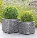 Lead Effect Square Patio Planter Pot - Different Size Options