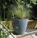 Beton Tall Round Planter Pot - Dark Grey - Different Size Options