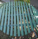 Wimbledon Tea For Four Metal Garden Furniture Set - Distressed Green