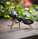 Metal Ant Wall Art - Hand Painted - Large