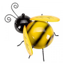 Metal Bee Wall Art - Hand Painted - Large