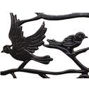 Garden Bird Back Metal Bench