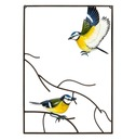 Tree Top Blue Tit 3d Metal Wall Art - La Hacienda