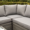 Bunbury Rattan Corner Sofa Set - Grey Weave