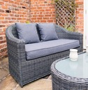 Bunbury Rattan 4 Peice Sofa and Chair Set - Grey Weave