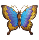 Butterfly Wall Art Glass and Metal - Blue and Purple