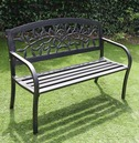 Garden Cherry Tree Metal Bench