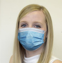 Disposable Face Mask Mouth Covering 50 Pack with Adjustable Nose Wire