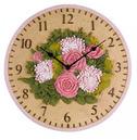 """Floral Garden Outdoor Wall Clock 12"""""""