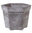 Sylvan Hexagonal Planter Granite - Lightweight