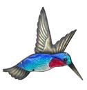 Humming Bird Wall Art Glass and Metal