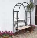 Huntingdon Garden Arch and Bench Arbour with Cushion