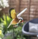 Inquisitive 3d Metal Goldfinch on Stake - La Hacienda