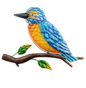 Kingfisher Wall Art Glass and Metal