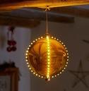 Meteor Shower LED Bauble Christmas Light - Gold