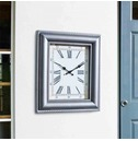 Large Rectangle Quardrant Outdoor Wall Clock 50cm - Frame Design