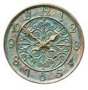 Verdant Clock - Outside Clock in a Verdigris Colour
