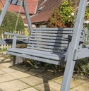 Palermo Wooden Swing Seat - Grey