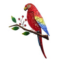 Parrot Wall Art Glass and Metal