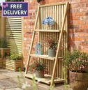 Wooden Plant Stand - 3 Shelves Etagere