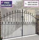Saxon Arched Double Metal Driveway Gate