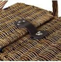 Traditional Wicker 2 Person Picnic Basket Set - Checked Lining
