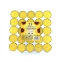 Tealights Citronella - 25 Pack of Tea Lights - 4+ Hour Burn Time