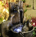 Playing Otter Animal Solar Power Water Feature