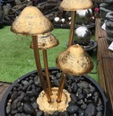 Stainless Steel 4 Mushroom Solar Power Water Feature