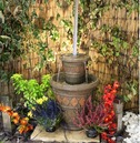 Mystic Floating Tap on Two Pots Water Feature