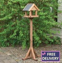 Windrush Bird Table - Wooden Bird Table and Stand - Slate Roof